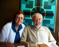 Beverly and Karl Benjamin in Claremont CA 2011_Photo by Jill Thayer PhD