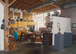John Frame in studio at Santa Fe Art Colony, Los Angeles, CA. Photo courtesy of the artist (c. 2000).