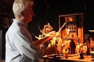 John Frame in the studio. Photo courtesy of January Parkos Arnall (2011).