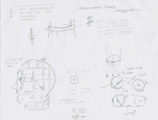 John Frame, Drawing Study: Mechanical Head Movement. Photo courtesy of the artist (2011)