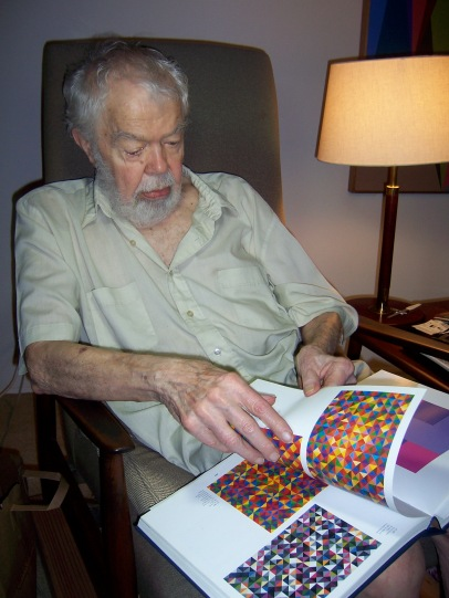 Karl Benjamin at home in Claremont CA c 2011_photo by Jill Thayer PhD