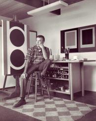 Karl Benjamin in his studio 1964_Claremont CA _photo courtesy Louis Stern Fine Arts