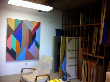 Karl Benjamin Studio in Claremont CA 2011_2_photo by Jill Thayer PhD