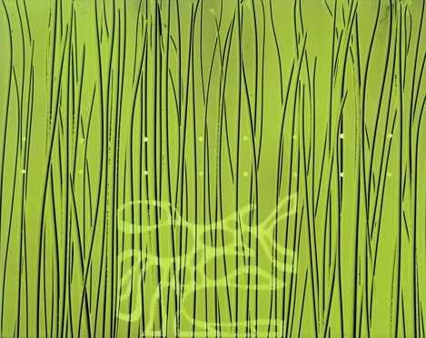 Roland Reiss_Into the Forest (Nature's Way) 2007_Acrylic on mylar