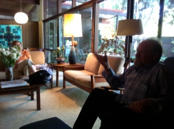 Ted Kerzie and Beverly Benjamin in Claremont CA 2011_Photo by Jill Thayer PhD