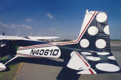 Ted Kerzie 1958 Restored Cessna Plane with Signature Dots 1991