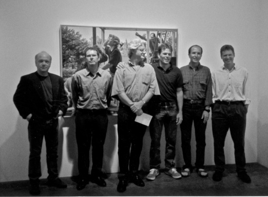 """The Bastards Collaborative"" group, John Frame center. Photo courtesy of the artist (c. 1997)."